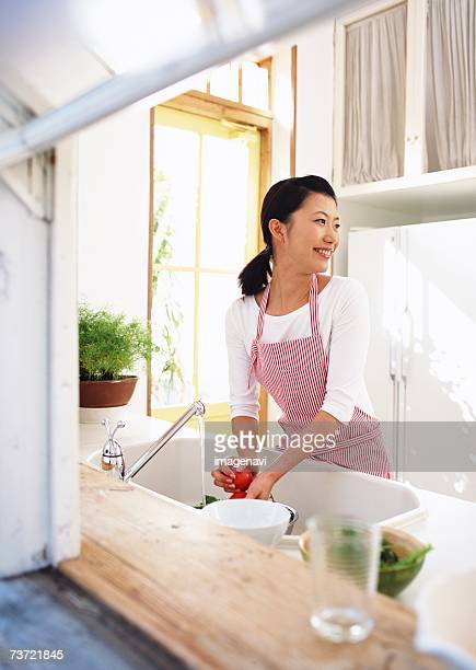 kitchen scene - homemaker stock pictures, royalty-free photos & images