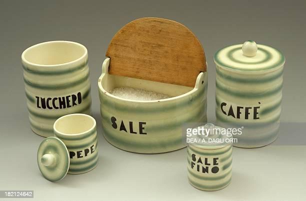 Kitchen set 1930s ceramic Italy 20th century