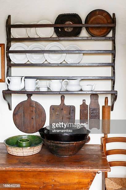 Cocina, estantes