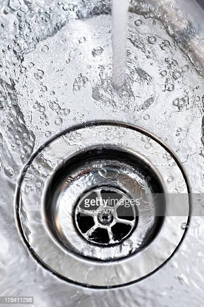 kitchen sink with water