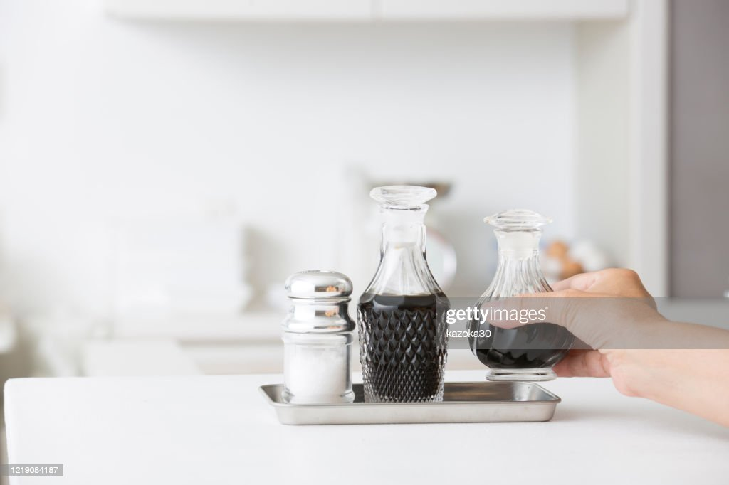 Kitchen soy sauce : Stock Photo