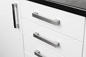 Kitchen storage unit handles