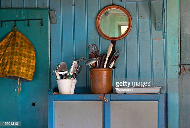 Kitchen stuff in old Swedish wooden house