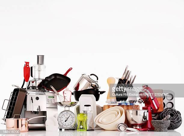 Kitchen supplies on counter