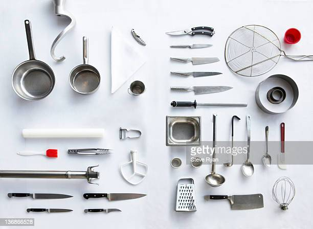 kitchen tools - cooking utensil stock photos and pictures
