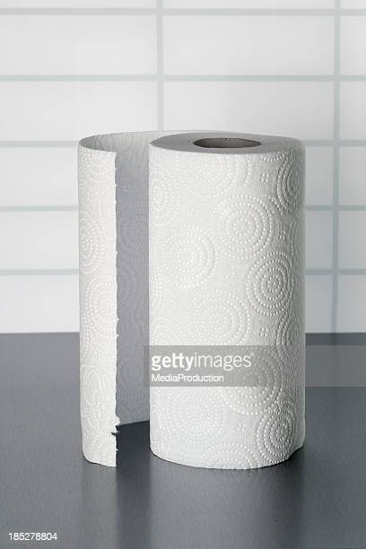 kitchen towel on stainless steel counter - rolled up stock pictures, royalty-free photos & images