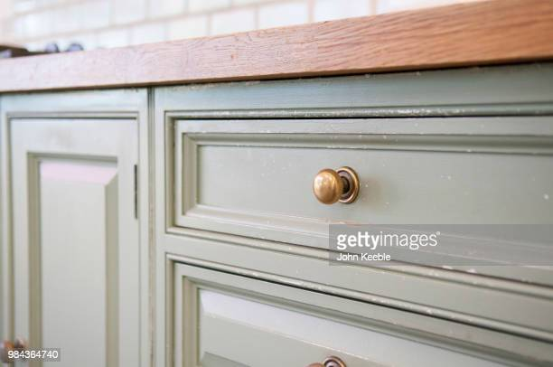 kitchen unit detail - handle stock pictures, royalty-free photos & images