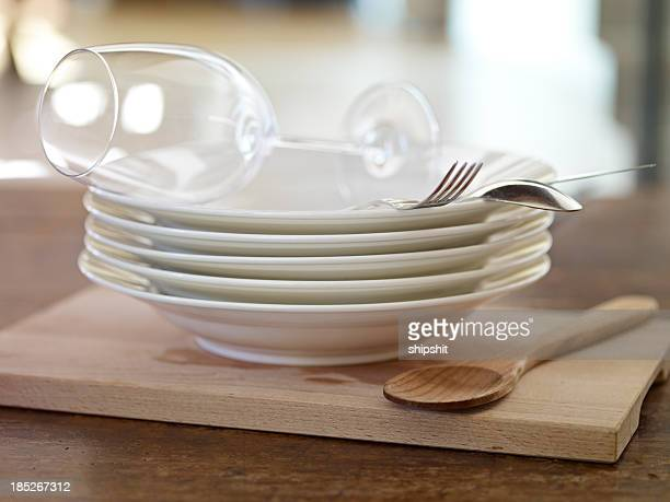 kitchen utensil - glas serviesgoed stockfoto's en -beelden