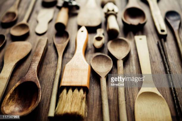 kitchen utensils - basting brush stock photos and pictures