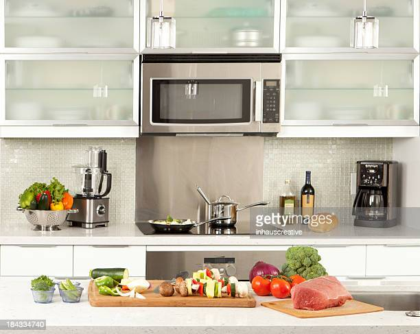 Kitchen with raw food