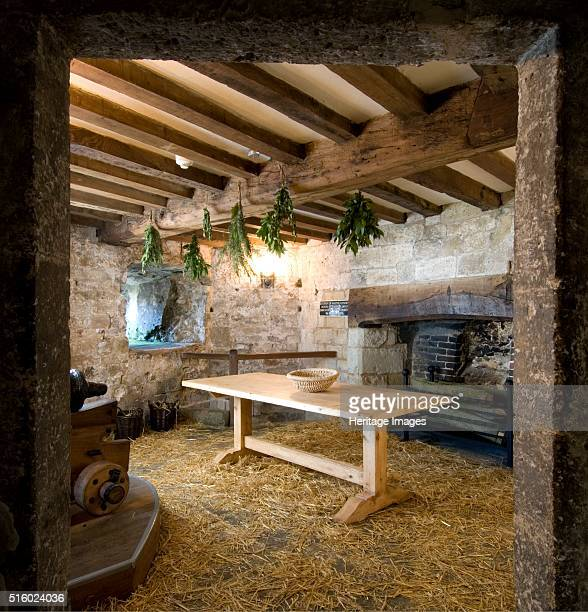 Kitchen, Yarmouth Castle, Isle of Wight, 2007. View of the reconstructed kitchen showing the fireplace and the rear of a gun carriage, viewed from...