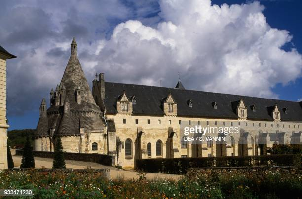Kitchens and refectory built in 1160 and renovated in 1904 Fontevraud abbey founded in 1101 by Robert d'Arbrissel Fontevraudl'Abbaye Loire valley...