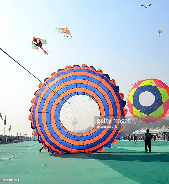 Kite Festival at Ahmedabad, Gujarat, India