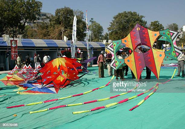 Kite festival in Ahmedabad Gujarat India