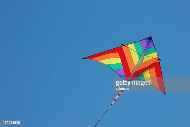 kite - vlieger stockfoto's en -beelden