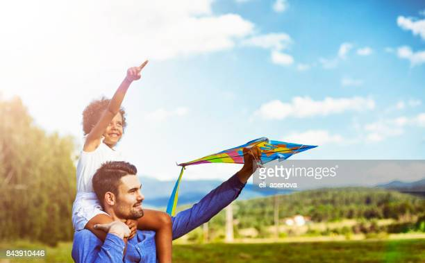 Kite bereit für fliegen