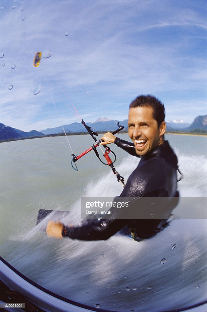 Kite Surfer Looking at the Camera : Stock Photo