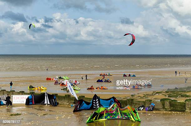 Kite surfers at Hunstanton