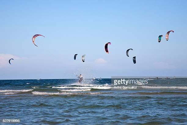 Kite Surfers huahin beach,thailand