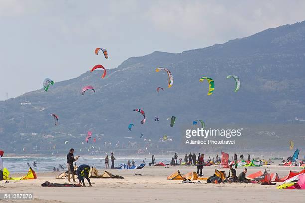 Kite Surfers on the Beach East of Tarifa