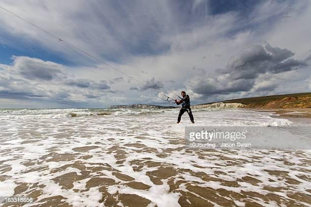 kite surfing action - s0ulsurfing ストックフォトと画像