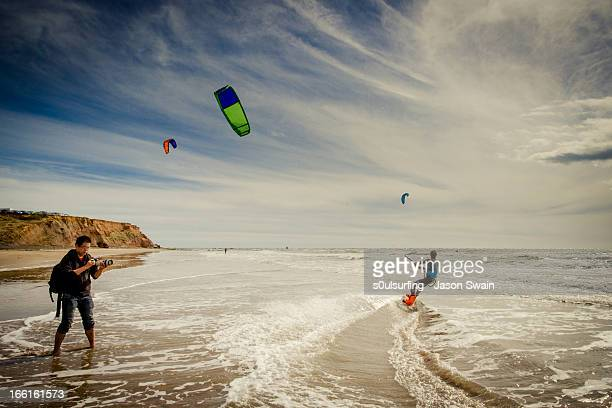 Kite Surfing at Compton Bay