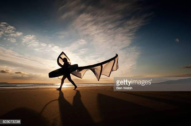 Kite surfing, Cadiz, Spain