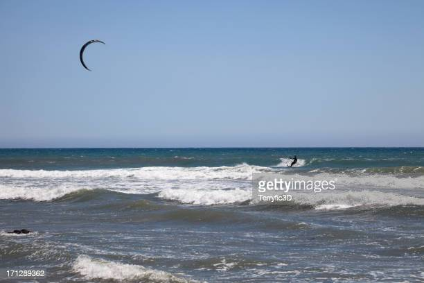 kite surfing in california - terryfic3d stock pictures, royalty-free photos & images