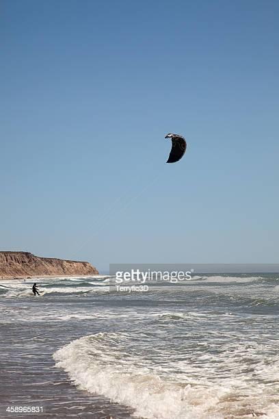 kite surfing in california - terryfic3d stockfoto's en -beelden