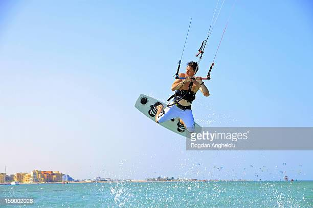 kitejump - kiteboarding stock photos and pictures