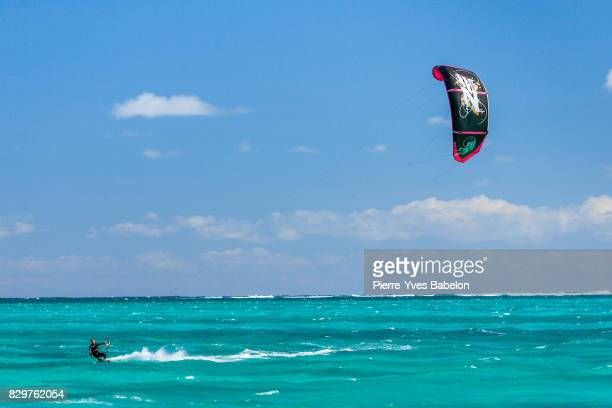 Kitesurfer in the lagoon