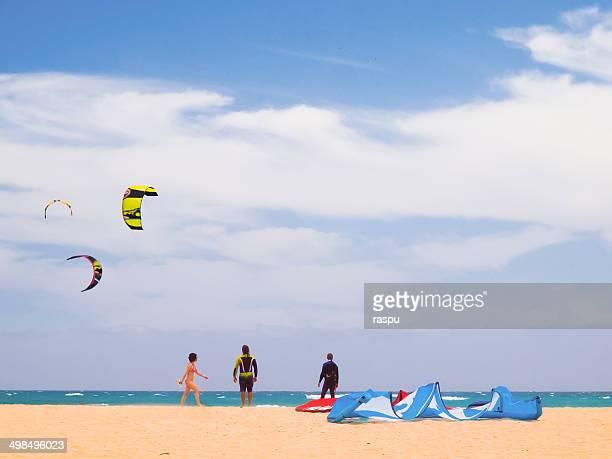 Kitesurfers in Fuerteventura