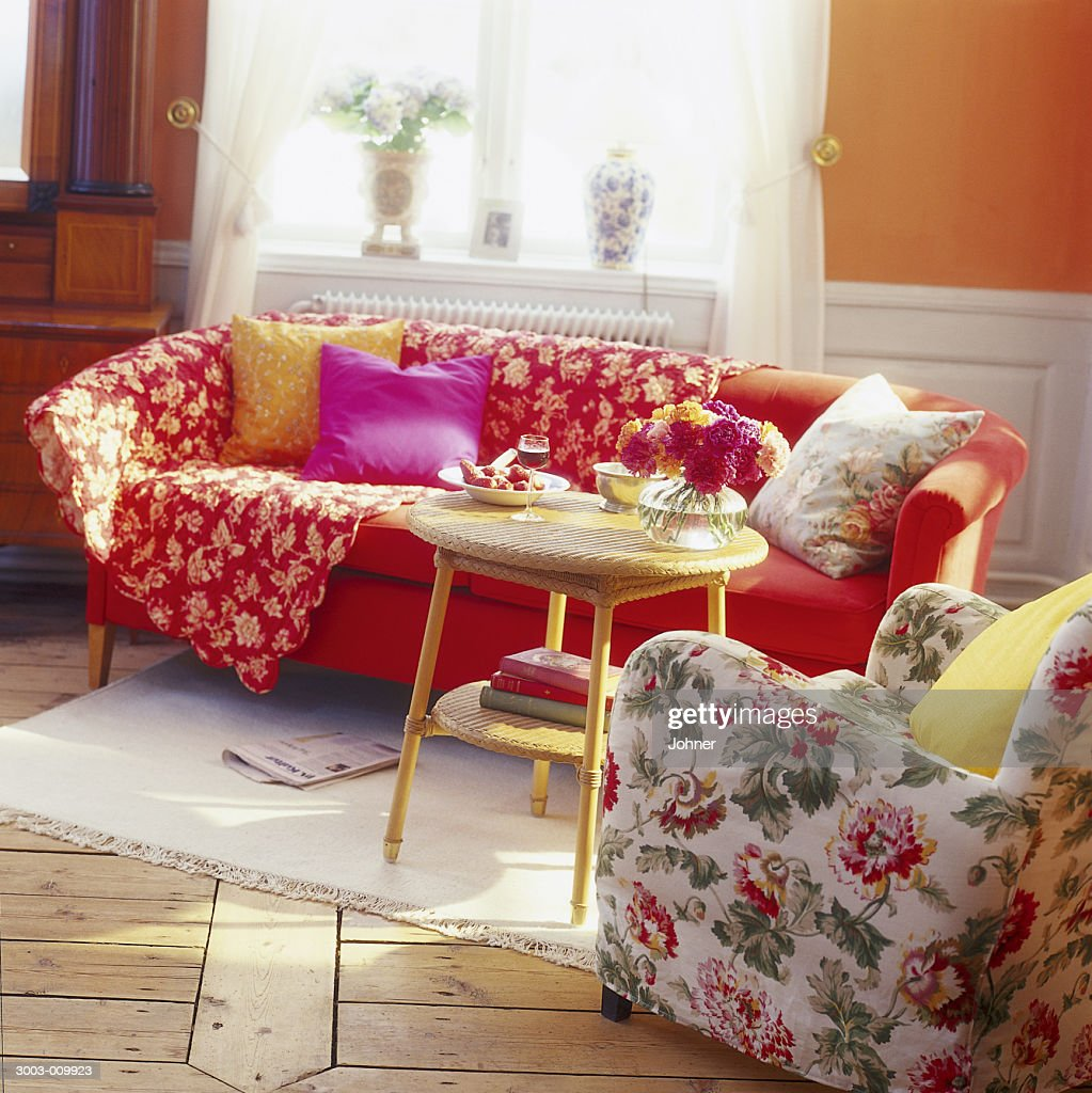Elegant Kitsch Living Room : Stock Photo