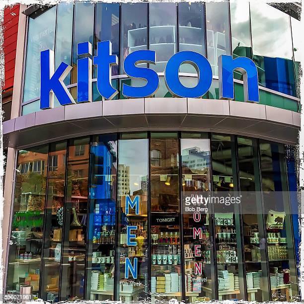 Santa Monica Ca January 30 2015 A Kitson storefront at the corner of the Santa Monica promenade intersection