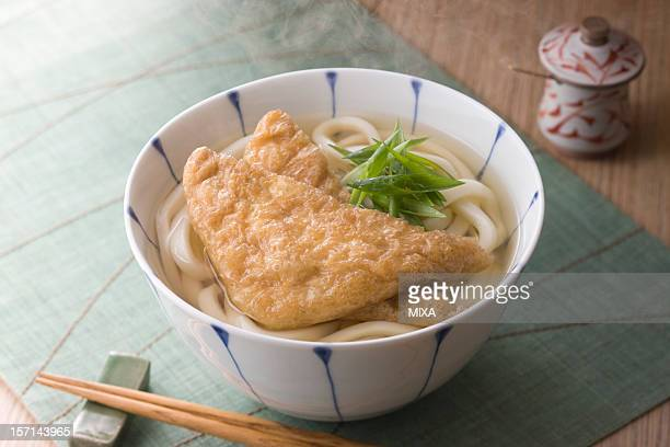 kitsune udon - aburaage stock pictures, royalty-free photos & images