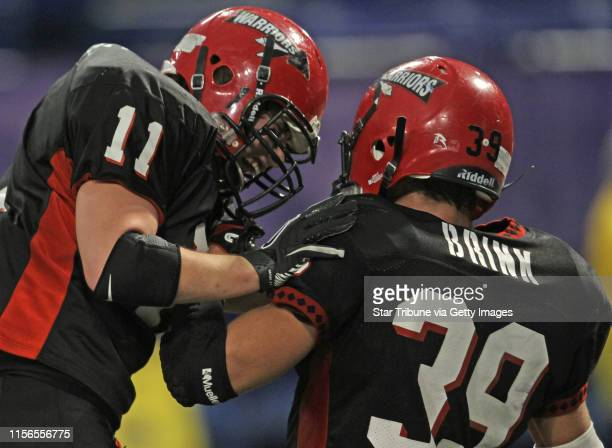 Kittson County Central vs WheatonHermanNorcross in 9Man semifinal game at the Dome 11/19/11 WheatonHermanNorcross Brock Sweere and Wolfgang Brink...
