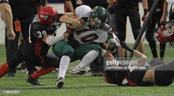 Kittson County Central vs WheatonHermanNorcross in 9Man semifinal game at the Dome 11/19/11 Kittson County Central quarterback Zach Rynning was...