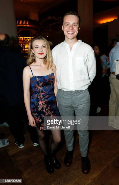 Kitty Archer and Luke Thallon attend the press night after party for Present Laughter at Skylon on June 25 2019 in London England