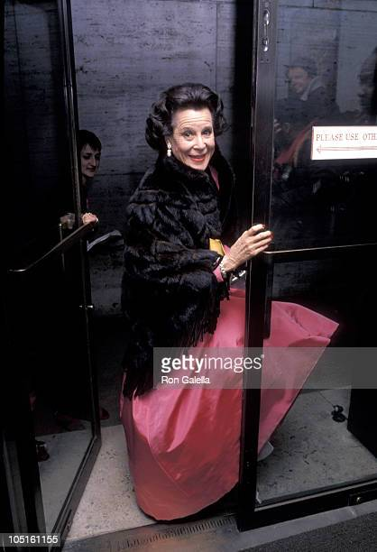 Kitty Carlisle during CFDA Honors Pauline Trigere's 50 Years of Fashion at New York State Theater Lincoln Center in New York City New York United...