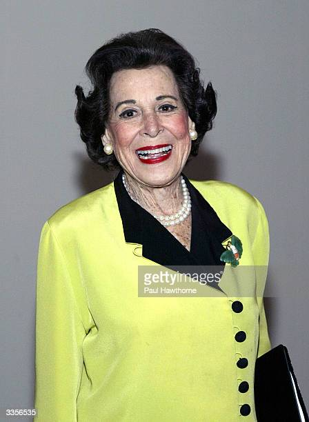 Kitty Carlisle Hart attends What Fresh Hell is This an evening of Dorothy Parker readings at the Tribeca Rooftop April 13 2004 in New York City