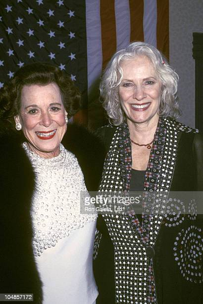 Kitty Carlisle Hart Betty Buckley during You Gotta Have Hart A Musical Tribute to Kitty Carlisle at Gramercy Theatre in New York City NY United States