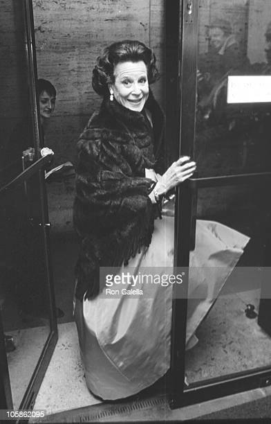 Kitty Carlisle Hart during CFDA Honors Pauline Trigere's 50 Years of Fashion at New York State Theater Lincoln Center in New York City New York...