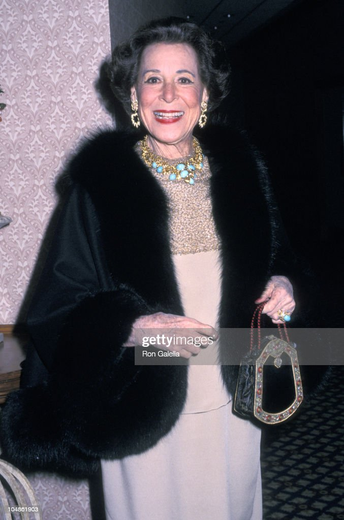 Kitty Carlisle Hart during The Actors' Fund of America's 'Standing Ovation!' Gala 80th Birthday Celebration in Honor of James M. Nederlander at Sheraton New York in New York City, New York, United States.