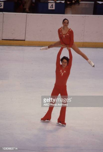 Kitty Carruthers Peter Carruthers competing in the Pairs figure skating event at the 1980 Winter Olympics / XIII Olympic Winter Games Olympic Center
