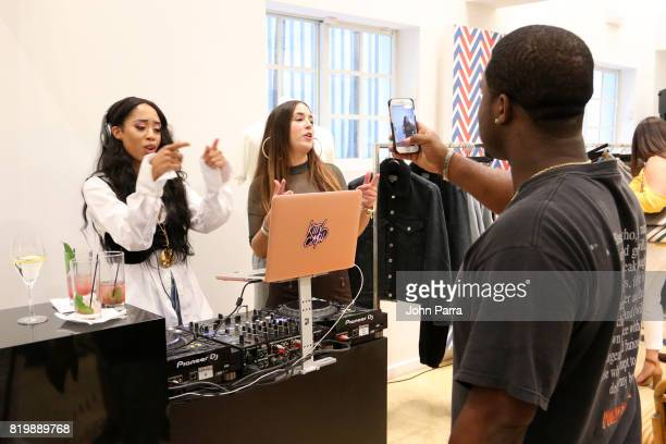 Kitty Cash and A$AP Ferg attend The Webster Celebrates Exclusive Launch Of A$AP Ferg X AGOLDE Collection at The Webster on July 20 2017 in Miami...