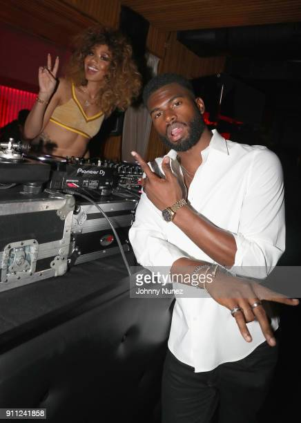 Kitty Cash and Broderick Hunter attend The House Of Remy Martin Presents The Culture Creators PreGrammy Party at Megu New York on January 27 2018 in...