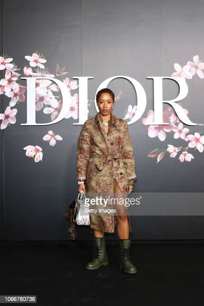 Kitty Cash attends the photocall at the Dior Pre Fall 2019 Men's Collection on November 30, 2018 in Tokyo, Japan.