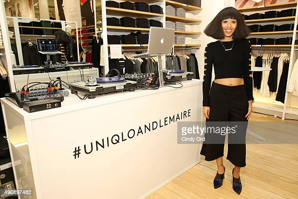 Kitty Cash attends the UNIQLO and LEMAIRE preshopping event at UNIQLO on October 1 2015 in New York City