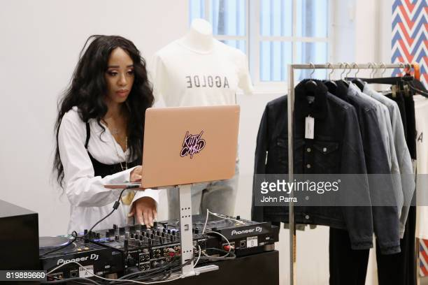 Kitty Cash attends The Webster Celebrates Exclusive Launch Of A$AP Ferg X AGOLDE Collection at The Webster on July 20 2017 in Miami Florida