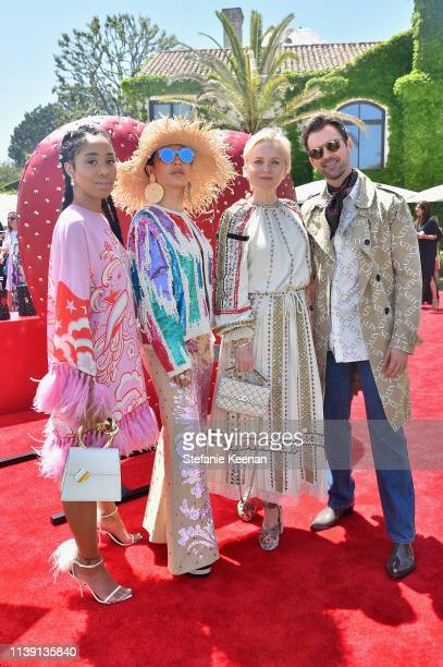 Kitty Cash Aureta Thomollari Barbara Sturm and Brad Goreski attend Valentino Sponsors HEART Annual Brunch on April 24 2019 in Los Angeles California